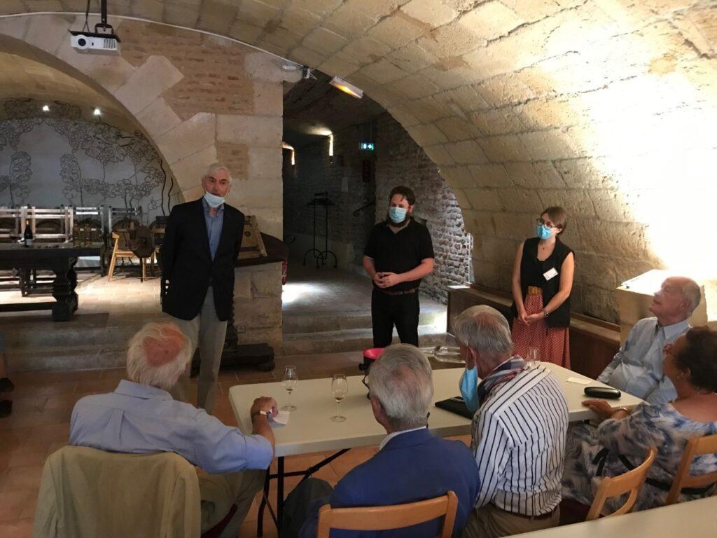 Dégustation de vins de Bergerac commentée par Paul André Barriat Président de l'Interprofession des vins de Bergerac et de Duras (IVBD)